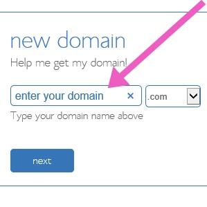 Start a blog - enter your domain name