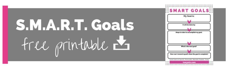 smart goals free printable