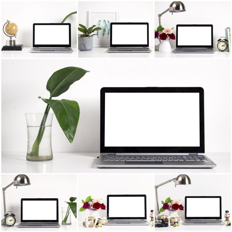 Styled Stock Photos of Tabletops and Laptop Screen Mock ups