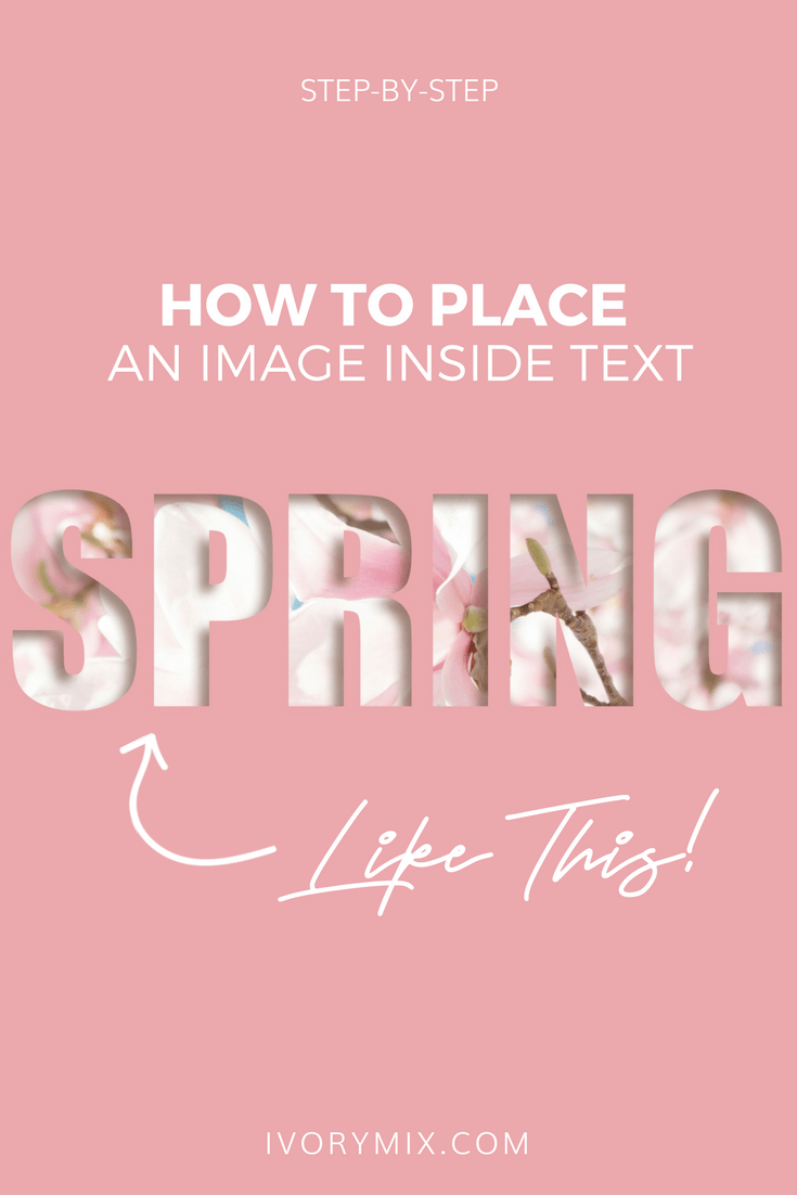 How to place a photo inside of a shape or text (tutorial for Photoshop and PicMonkey)