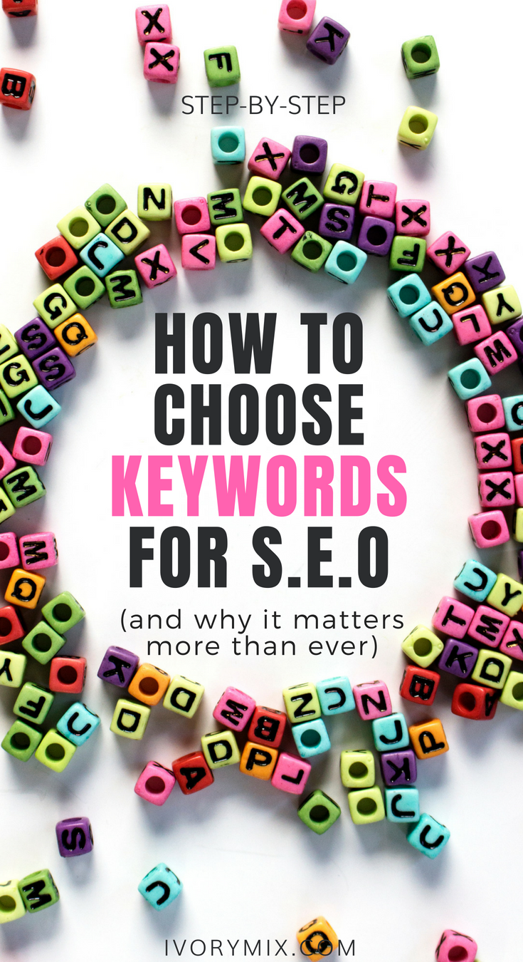 How to choose keywords for your blog and seo