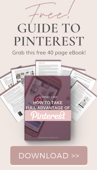 grow your traffic with pinterest - free ebook