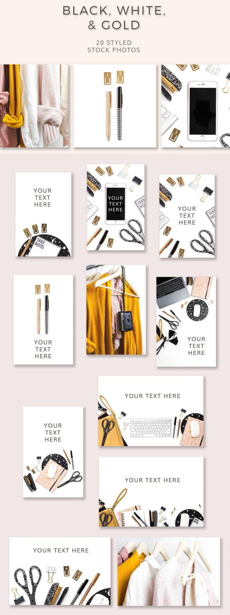 black white and gold styled stock photos