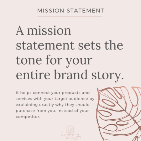 Complete guide to branding your blog or business - mission statement