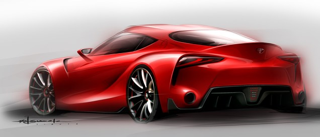 Toyota FT-1 concept sketch 02