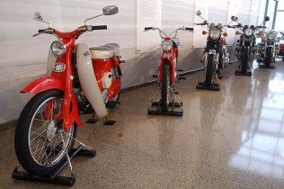 Collection of Honda motorcycles from the 1960's through the 90's