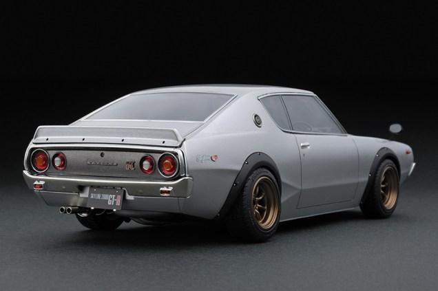 Ignition Models Nissan Skyline KPGC110 silver rear