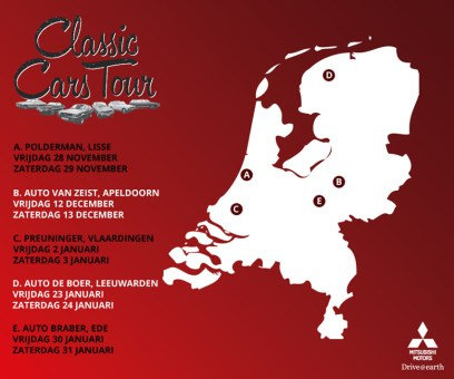 Mitsubishi Netherlands Classic Car Tour