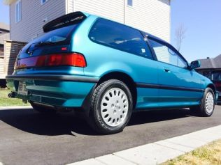1991 Honda Civic Si Tahitian Green 82