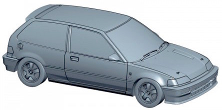 Aoshima Honda Civic EF