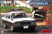 Aoshima Nissan Cedric 430 patrol car Seibu Keisatsu model kit