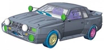 Aoshima Toyota Celica TA64 rally model kit