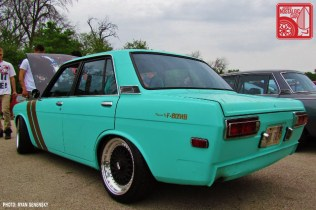 Datsun 510 Sedan side rear Team_Nostalgic Chicago