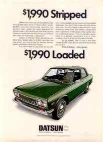Datsun 510 ad 1990 loaded