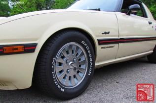 Mazda RX7 FB White Polished OEM Wheels