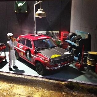 Takupon0816_Datsun Nissan Bluebird Safari Rally 1970 diorama