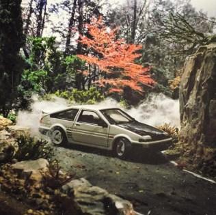Takupon0816_Toyota AE86 Sprinter Trueno diorama