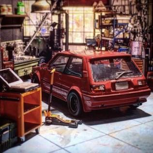 Takupon0816_Toyota Corolla FX 1600GT AE82 1984 diorama