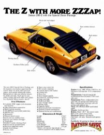 1977 Datsun 280Z Zzzap ad