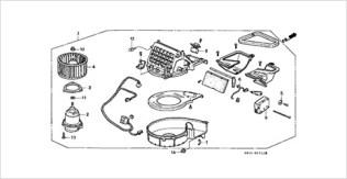 Honda Beat parts heater blower