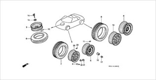 Honda Beat parts wheel tire