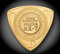 Japan Post Mazda RX7 40th rotary gold plate 03