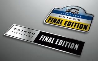 Mitsubishi Pajero V80 2019 Final Edition sticker