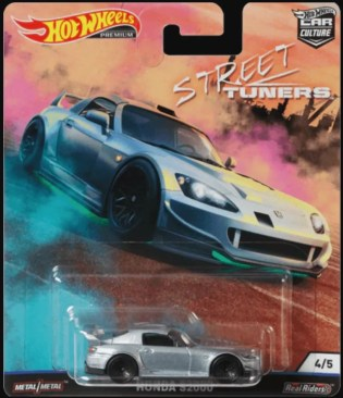 Hot Wheels Car Culture Street Tuners Honda S2000 silver