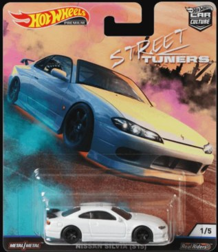 Hot Wheels Car Culture Street Tuners Nissan Silvia S15 white