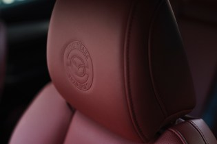 Mazda3 100th Anniversary headrest emboss