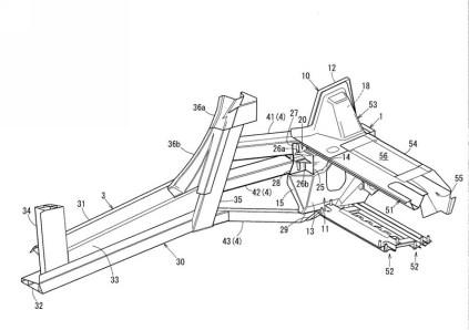 Mazda Sports Coupe patent drawing cabin profile 02