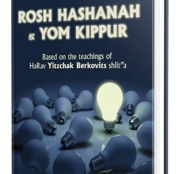 A New Approach to Rosh Hashanah & Yom Kippur: Based On The Teachings of HaRav Yitzchak Berkovits Shlita