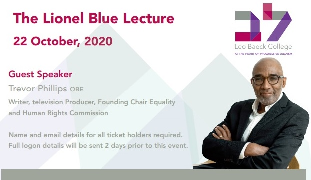 Lionel Blue lecture by Trevor Phillips OBE on October 20, 2020