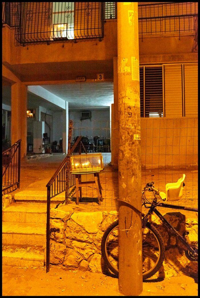 "Hanukkah lamps ""Hanukkiot"" in Bnei Brak"
