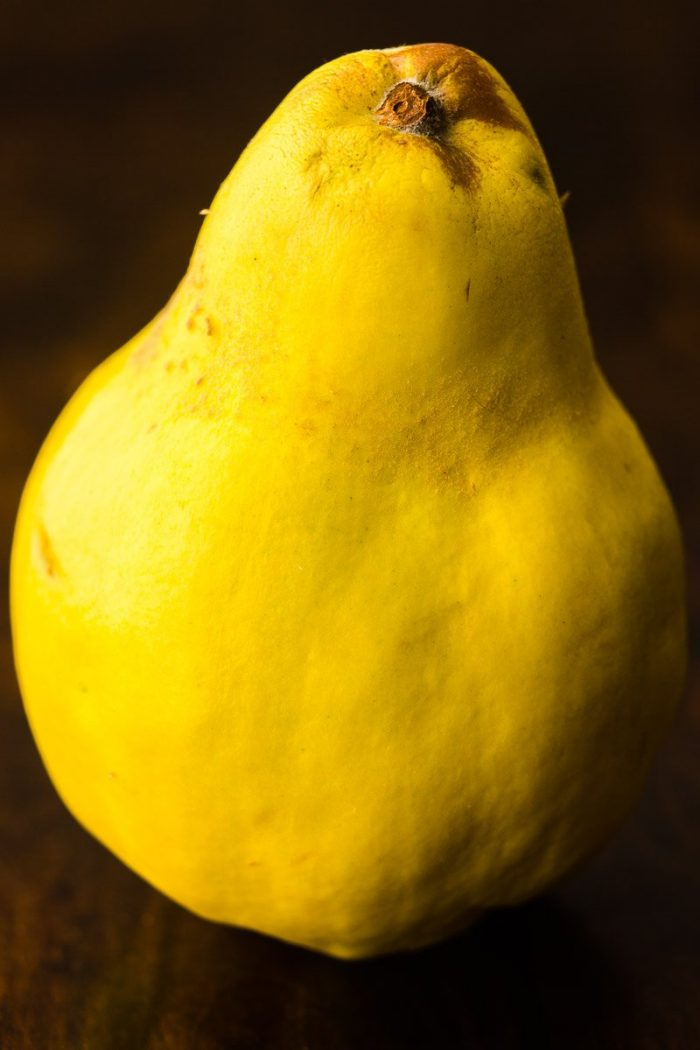 Sometimes quinces have a more pear-like shape