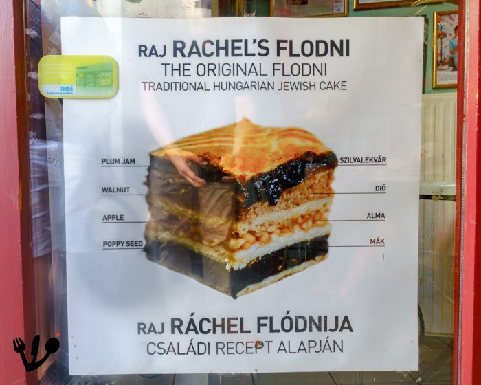 In a flódni the four different layers are separated by a thin layer of dough.