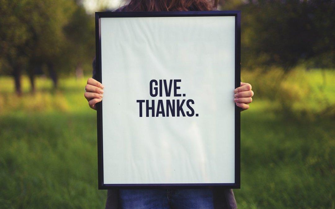 Practice feeling thankful. It'll change everything