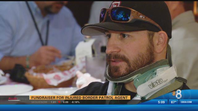 Fundraiser for injured Border Patrol Agent  CBS News 8
