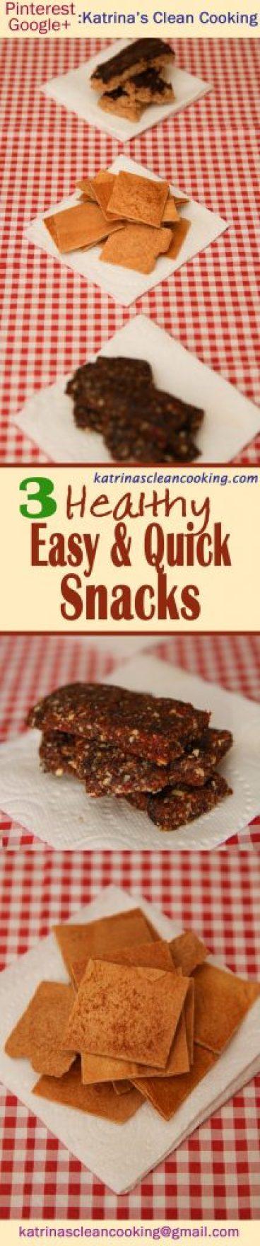 3 Healthy Snacks Recipes #Healthy #Snacks
