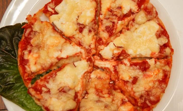 Healthy Gluten free Pizza #healthy #glutenfree #100calories