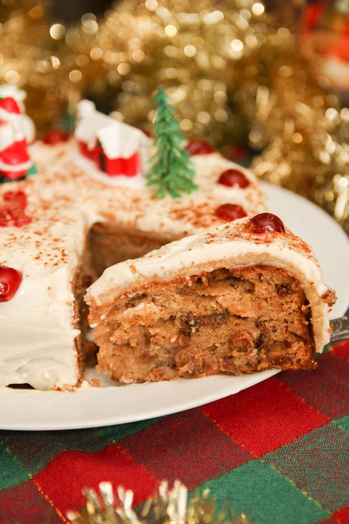 Healthy Christmas Fruit Cake