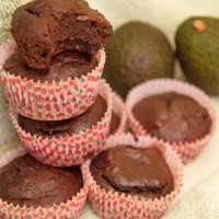 Healthy Chocolate Avocado Muffins