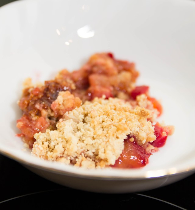 Gooseberry Plum Crumble #healthy #glutenfree #dairyfree #eggless #refinedsugarfree #easy #dessert