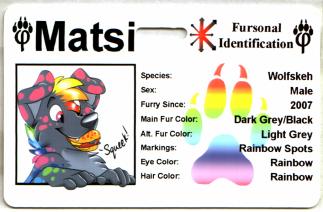 Fursonal ID Furry ID Fursona ID Fursuit ID