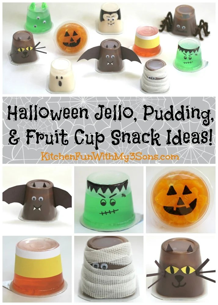 fruit decor for kitchen repair cabinets halloween jello cups - fun with my 3 sons