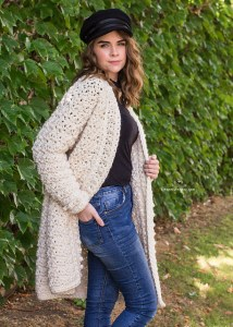 82886a639 This cozy Kimono Blanket Cardigan is made using Lion Brand Jeans yarn.  There s a video tutorial too so great if you are still quite new to crochet.