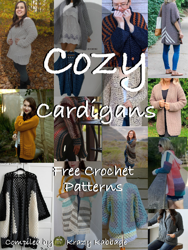 ecfa143dc Cozy Cardigans Free Crochet Patterns – Krazy Kabbage