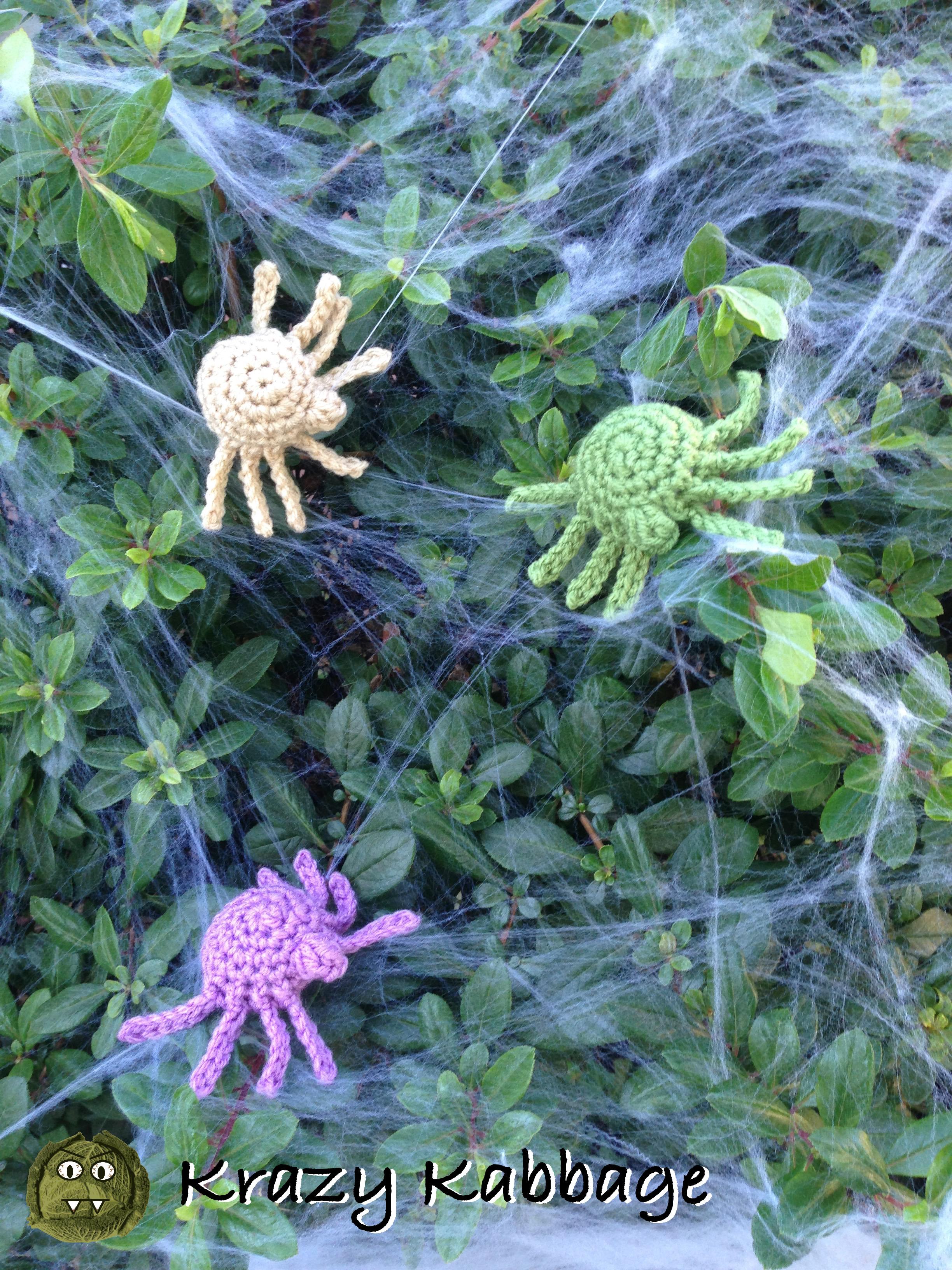 Crochet Amigurumi Spider Pattern Krazy Kabbage