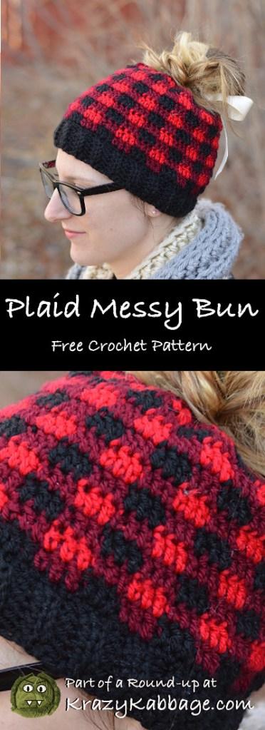 5b47350cbbd Messy Bun Beanie Hat Free Crochet Patterns – Krazy Kabbage