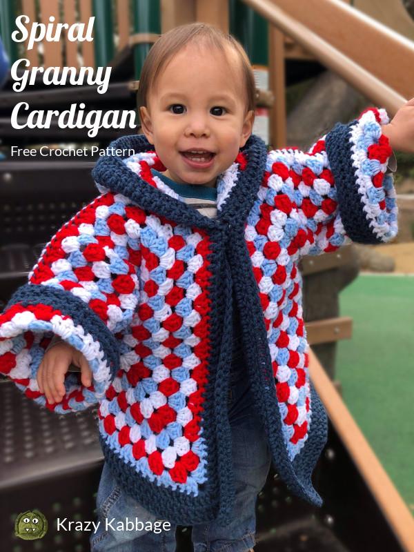 0647dcb452e9 Hexagon Granny Square Hooded Cardigan Free Crochet Pattern – Krazy ...